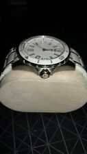 GC X8 50009G1 WHITE AND SILVER CERAMIC SAPPHIRE CRYSTAL WATCH