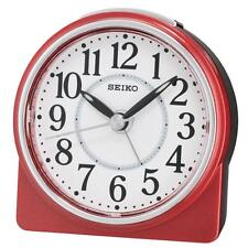 Seiko QHE137R Best Sweep Second Hand Beep Alarm Clock with Snooze - Red / White