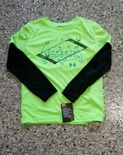 New Under Armour Kids Boys Long Sleeve Graphic T-Shirt Tee Size: 5