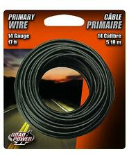 Coleman Cable 55667133 14-Gauge 17-Foot Automotive Copper Wire, Black