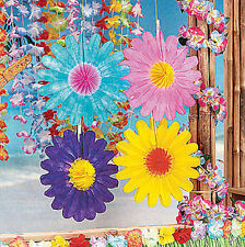 12 bright colorful Tissue Flowers LUAU PARTY DECORATION