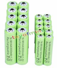10 AA 3000 mAh+10 AAA 1800 mAh NiMH rechargeable battery Cell G1