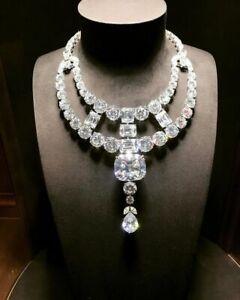 Very Gorgeous Multi Shape 450.00CT Clear Cubic Zirconia Unique Wedding Necklace