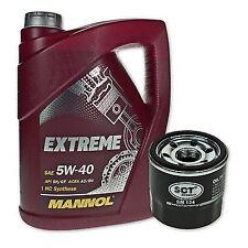 5 Liter Mannol SAE 5W-40 Extreme Motoröl + Ölfilter SM 134 von SCT Germany