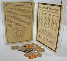 Set Of 33 Lucky Coins from around the World With Story, Holder and Identifier