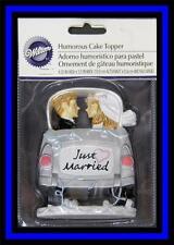 NEW! Wilton ***JUST MARRIED CAR*** Humorous Wedding Cake Topper! NIP #239