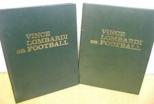 Vince Lombardi on Football by Vince Lombardi 1973 Hardcovers in Two Volumes