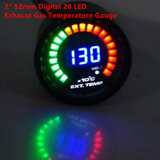 "1PC 2"" 52mm Digital 20 LED Exhaust Gas Temperature Gauge EGT for Car Truck SUV"