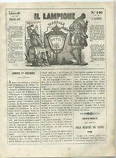Giornale Il Lampione Lorenzini Collodi Avvenimenti Montecuccoli Pachta e Radetky