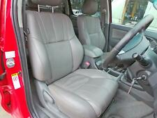 TOYOTA HILUX 2013 FRONT AND REAR LEATHER SEATS IN GREY LEATHER 2005 - 2015