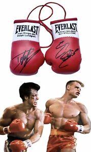 Autographed Mini Boxing Gloves Ivan Drago v Rocky Balboa  (Rocky 4 Film)