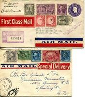 US Airmail First Class Mail Special Delivery Registered Postage Cover Collection