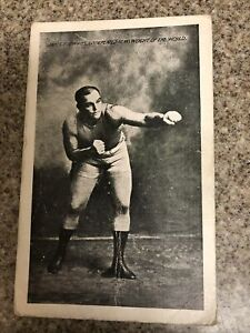 Rare Boxing Sports Boxer Jim Jeffries Pre 1910 Before Loss Jack Johnson Reno, Nv