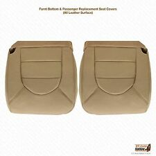1999 2000 Ford F250 F350 Driver & Passenger Top Bottom Leather Seat Covers Tan