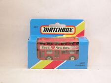 "Matchbox Superfast MB 17 London Bus ""You'll love New-York""  neuf/boite (#A25)"