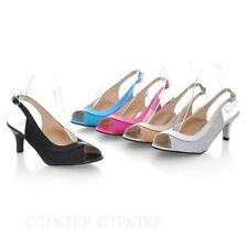 Bridal or Wedding Patternless Plus Size Heels for Women