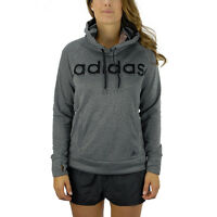 Adidas Women's Ultimate Logo Hoodie Dark Grey Climawarm M60958 NEW!