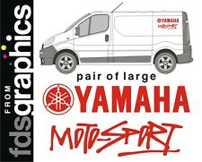 2 x LARGE (700mm) Yamaha Motosport van stickers/decals