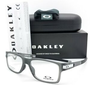 NEW Oakley Latch Ex RX Eyeglasses Frame Satin Grey Smoke Black OX8115-0254 54mm