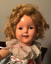 Vintage Shirley Temple Doll 18 Inches Tall With Extras!