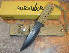 "7.5"" TACTICAL COMBAT FULL TANG Survival HUNTING KNIFE Bowie Military Fixed Blade"