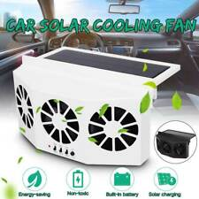 Car Air Vent Exhaust Fan 3Fan Windshield Ventilation Window System Solar Power