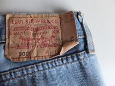VINTAGE LEVI'S 501 | Luce Blu Jeans | W36 L32 classico jeans denim dritto