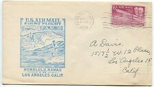 1950 AIR MAIL FIRST FLIGHT COVER - HONOLULU to LOS ANGELES