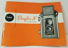 Kodak Duaflex IV Camera Instruction Manual 1950s