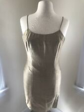 Vintage Limited Gold Silk Thin Strap Dress- Size 2