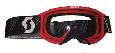 Scott 89Si MX Goggles - Junior Size / Red Frame / Clear Lens _ 205528-0004