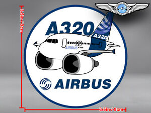 AIRBUS A320 A 320 PUDGY ROUND DECAL / STICKER