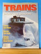 Trains Magazine 1995 December Ontario's last snowpolos BN Chciago Racetrack Wint