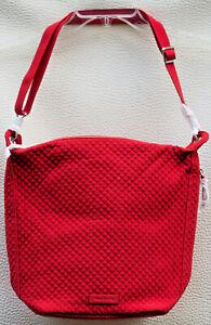 Vera Bradley Carson Hobo Microfiber Shoulder Crossbody Bag in Cardinal Red. NWT