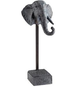 """Cyan Design Packy Elephant Sculpture Zinc 07656 NEW  15"""" x 6"""" x 6"""" WOW! MINT"""
