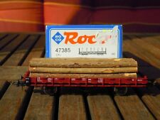 Roco 47385 Flat Stake Wagon kbkmo CFL ep. 4 with wood loaded with Suresh U. NEM