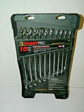 Husky Pro Combination Wrench Set 10 Pieces 10mm To 19mm 65517 Nos