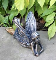 Garden Ornaments Home Decoration Lying Fairy Antique Bronze effect Sculpture