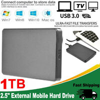 USB 3.0 1TB External Mobile Storage Hard Drive 2.5'' HDD Portable For PC Laptop