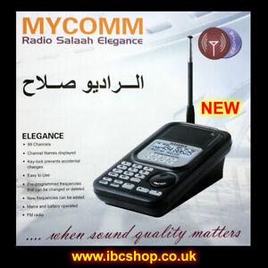 ISLAMIC MOSQUE AZAN RECEIVER MYCOMM RADIO SALAAH ELEGANCE SCANNER ( BRAND NEW )