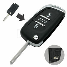 Refit Flip Remote Key Shell fit for PEUGEOT 408 307 407 207 107 Key Fob 3 Button