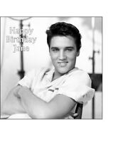 "7.5"" Square Elvis Presley Personalised PRE-CUT ICING Cake Topper Decoration"