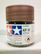 Tamiya acrylic paint. XF-6 Copper 10ml Mini.