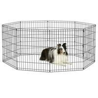 "30"" Tall Dog Playpen Crate Fence Pet Play Pen Exercise Cage 8 Panel Foldable"