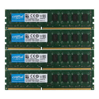 Crucial 4x 4GB PC3L 12800U DDR3 1600MHz RAM DIMM For Desktop Memory Low Density