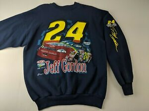 Vintage 1998 Jeff Gordon M 24 Blue Nascar Sweatshirt Pullover Outdoor Chase Q3