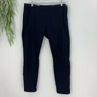 The Gap Womens Cropped Slim Pants Size 29 8 Navy Blue Skinny Leg Trousers Cotton