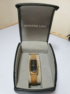 Christin Lars Ladies Gold Tone Wrist Watch.Pre Owned New Condition Never Worn