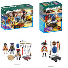 PLAYMOBIL Pirates Commander with Armory 5136 & Redcoat Guard w Cannon 5141 BNIBs