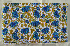 Dressmaking Fabrics Indian Running Cotton Hand block Vintage Print Loose 5 Yard